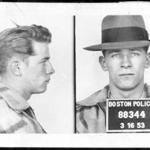 "James ""Whitey"" Bulger in a Boston Police Department booking photo after an arrest in 1953. He was on the lam for 16 years until caught in 2011."