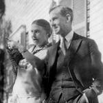 Arthur Kingsley Porter and Lucy Porter around 1920 in Cambridge.