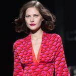 Diane von Furstenberg's chic layered prints were exuberant and flowed with bursts of silk and chiffon.