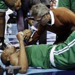 Leandro Barbosa injured his left knee during Monday's game against the Bobcats.