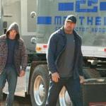 Jon Bernthal (left) plays an ex-con and Dwayne Johnson is a desperate father.