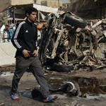 The Ameen neighborhood of eastern Baghdad was one of several sections hit by bombings on Sunday.
