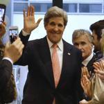 US Secretary of State John Kerry attended an event in Berlin on Tuesday.
