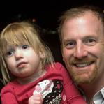 Red Sox pitcher Ryan Dempster and his daughter Riley