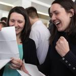 Twins Julia and Lydia Parzych opened their letters during match day in Worcester,