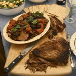Luke Pyenson prepared the braised brisket with red wine, spices, prunes, carrots, onions, and leeks.