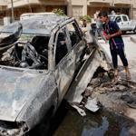 Deadly blasts rocked Baghdad Tuesday on the eve of the 10th anniversary of the US-led invasion that toppled the Saddam Hussein regime.