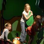 Beth, 5, Elise, 7, and Hope, 4, played at the Boston Children's Museum, celebrating its 100th anniversary.