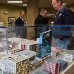A model of MGM's casino resort proposed for Springfield was on display at its city headquarters in December.