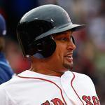 Shane Victorino reacted after he singled in the winning run in the 10th inning.