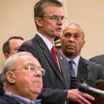 FBI Special Agent in Charge Richard DesLauriers at a briefing on the investigation.