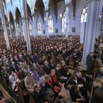 About 2,000 people packed the Cathedral of the Holy Cross in Boston to unite with clergy and political leaders and remember the victim's of Monday's bombings. Many of the attendees said the service provided both solace and solidarity and left them inspired.