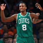 Among this pair of eights, the Celtics' Jeff Green is dealt a traveling call in the fourth, pleasing J.R. Smith.