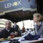 Boston Mayor Thomas Menino ate at Solas Irish Pub at the Lenox Hotel on Boylston street.