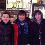 Azamat Tazhayakov (left) and Dias Kadyrbayev (center) were in the United States on invalid visas, officials say.