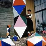 Ray Eames demonstrating The Toy, 1951.