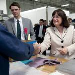 US Representative Ann McLane Kuster, a freshman Democrat from New Hampshire, toured Knappe & Koester Inc. in Keene, N.H., recently. She has jumped into fund-raising with gusto, and is already facing attacks from Republicans.