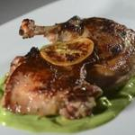 Roasted half guinea hen at Tavern Road.