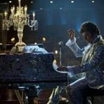 "Michael Douglas at the piano in ""Behind the Candelabra."""