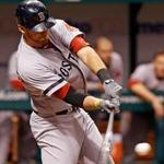 Will Middlebrooks hit a three-run double in the ninth inning gave the Sox a 4-3 victory over the Rays.