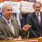 "After formally throwing his support behind Edward Markey, Mayor Menino said he told Markey to ""meet and greet"" more aggressively."