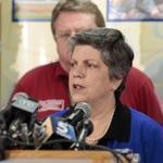 Secretary of Homeland Security Janet Napolitano spoke in Moore, Okla., earlier this week.