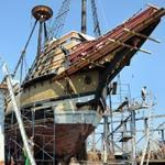 The Mayflower II is being restored at the Fairhaven Shipyard. Some Plymouth shops  have seen a decline in business.