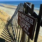 Marconi Beach in Wellfleet took a pounding this winter