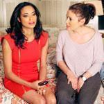 "Rochelle Aytes (left) and Alyssa Milano play two of the characters looking for love, romance, and sex  in ""Mistresses."""
