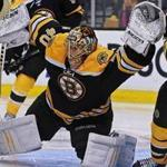 Tuukka Rask came up big time and time again in the Bruins net, ignoring the heavy traffic in his crease to come up with save after save and earn his second shutout of the series.