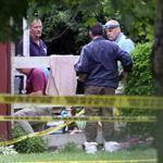 Police investigated a double homicide on Central Avenue in Falmouth.