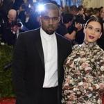 Kanye West with Kim Kardashian at the Metropolitan Museum of Art's Costume Institute Gala benefit in New York on May 6, 2013.