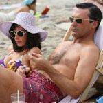 "The ""Mad Men"" characters Megan and Don Draper are played by Jessica Pare and Jon Hamm."