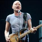 Sting (pictured performing in Amsterdam last year) played to a sold-out crowd at the Bank of America Pavilion Friday.