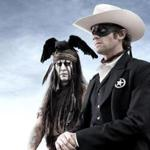 "Johnny Depp (left) as Tonto and Armie Hammer as the title character in ""The Lone Ranger."""