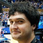 Drew Cannon stood courtside in Cameron Indoor Stadium before a 2012 Duke-Carolina game.