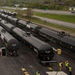 Rail cars were unloaded in Albany at a terminal owned by Global Partners, a Waltham firm that moves petroleum products across the country.