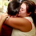 Jenna Lockwood was hugged by her sister, Jessica, after she and Kristen Welch were denied a marriage license.
