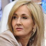 J.K. Rowling courtside at Wimbledon last month.