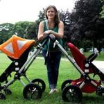Lynn Cooper, owner of Stroller Spa Boston, repairs and details baby strollers at locations in Massachusetts and Rhode Island.