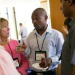Thulani Madondo of South Africa spoke with fellow nonprofit leaders at Harvard Wednesday.