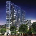A rendering of The Point in the Fenway. The tower would include 320 residences and retail.