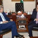 Secretary of State John Kerry met with Palestinian President Mahmoud Abbas in Amman, Jordan, on Wednesday.