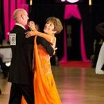 George Lacerte and Bette Bissonnette competing at the Yankee Classic DanceSport Championships in Cambridge last month.