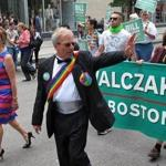 Mayoral candidate Bill Walczak dressed up for Boston's gay pride parade.