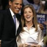 Then-Senator Barack Obama and Caroline Kennedy in 2008.