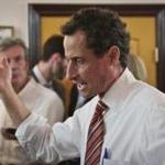 Anthony Weiner, New York mayoral candidate, spoke during a news conference.