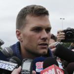 Tom Brady spoke to a throng of reporters on Thursday.