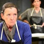 "Nancy E. Carroll plays Arlyne, a longtime worker at a processing plant, in Gloucester Stage Company's ""North Shore Fish.''"