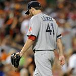 Red Sox starter John Lackey gave up five runs on nine hits, including three homers.